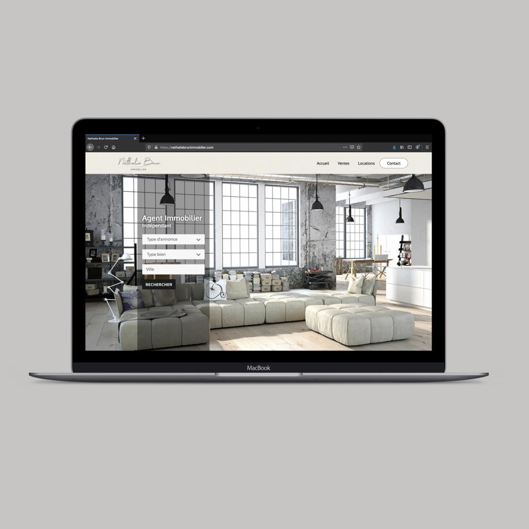 Site vitrine Nathalie Brun Immobilier
